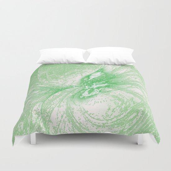 Splatter in Limeade  Duvet Cover