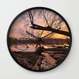 Potomac Sunset Wall Clock