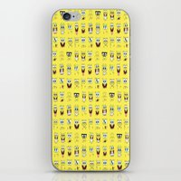 spongebob iPhone & iPod Skins featuring spongebob  , spongebob  games, spongebob  blanket, spongebob  duvet cover by ira gora