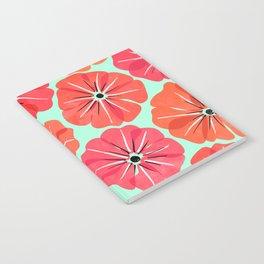 Poppy Floral Pattern Notebook