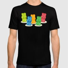 Gummy Bears Gang Mens Fitted Tee MEDIUM Black