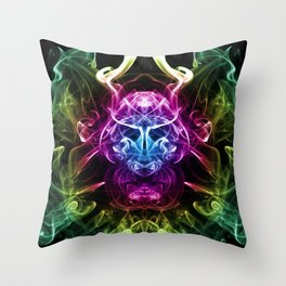 Smoke Warrior Throw Pillow