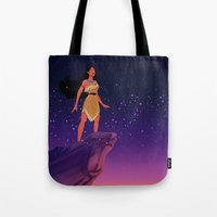 pocahontas Tote Bags featuring Pocahontas ♥ by Vita♥G