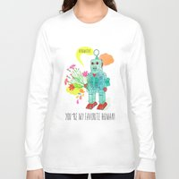 robot Long Sleeve T-shirts featuring Robot by Elisandra Sevenstar