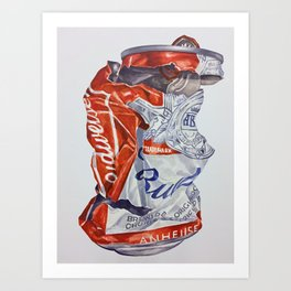 Budweiser can Art Print