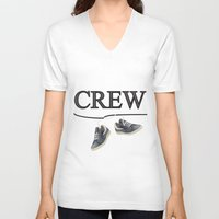 animal crew V-neck T-shirts featuring Crew by Cs025