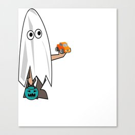 Teal Pumpkin No Candy For Me Please Food Allergy Trick or Treat Canvas Print