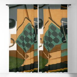 "Juan Gris ""Chessboard, Glass and Dish"" Blackout Curtain"
