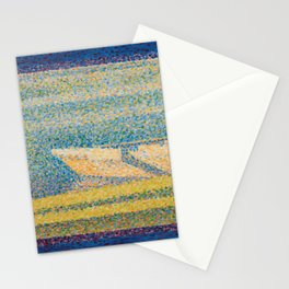Georges Seurat - Moored Boats and Trees Stationery Cards
