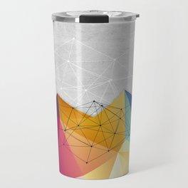 Polygons on Concrete Travel Mug