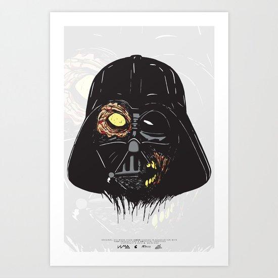 Vader Zombie Art Print