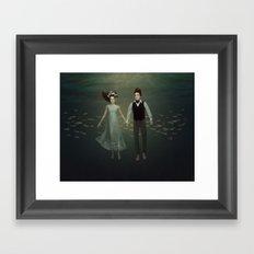 Underwater Couple Framed Art Print