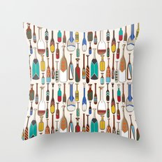 not that kind of paddle Throw Pillow