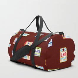 Retro airport ticket Duffle Bag