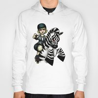 roller derby Hoodies featuring Roller Derby Referee Zebra by RonkyTonk