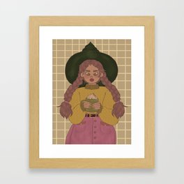 Caramel Hot Cocoa Framed Art Print