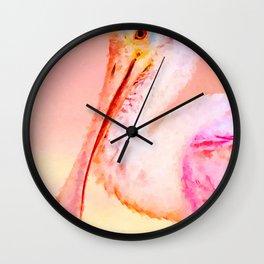 Roseate Spoonbill Wall Clock