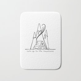 LETS GO TO MOUNTAINS Bath Mat