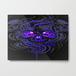 Purple Nurpel Skeletons Metal Print