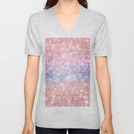 Pastel Galaxy Sparkle Stars Unisex V-Neck