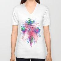 splash V-neck T-shirts featuring splash by sladja