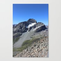 archan nair Canvas Prints featuring Piz Nair View by Helle Gade