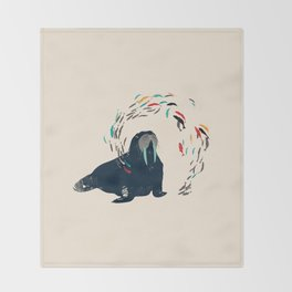 Walrus. Throw Blanket