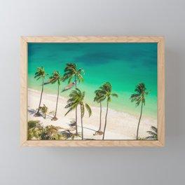 An Aerial view of a Scenic Beach in Thailand Framed Mini Art Print