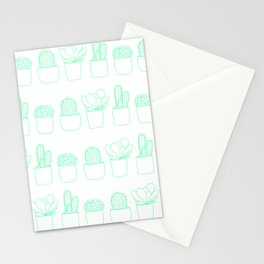 Succulents (Minty Palette) Stationery Cards
