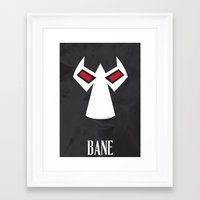 bane Framed Art Prints featuring Bane by Gari Smith