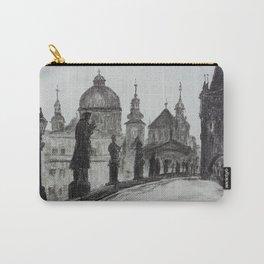 Prague, vintage foto, Charles Bridge, Architecture, Europe Carry-All Pouch
