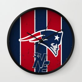N.E Patriots Print Wall Clock