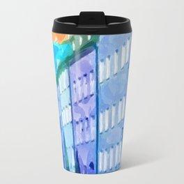 Blaue bis Türkis Travel Mug