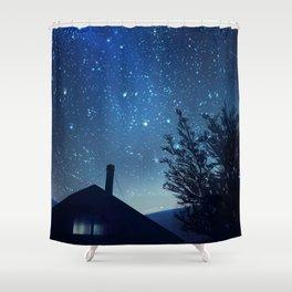 Kea Hut Shower Curtain