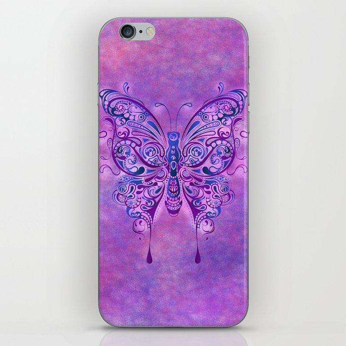 Butterfly In Purple iPhone Skin