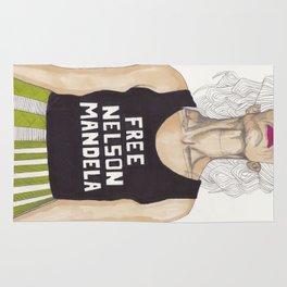 Free Nelson Mandella Rug