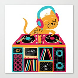 Cat DJ Canvas Print