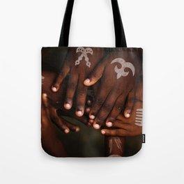 Hands symbol Tote Bag