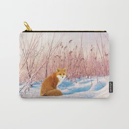 Red Fox in Snow Carry-All Pouch