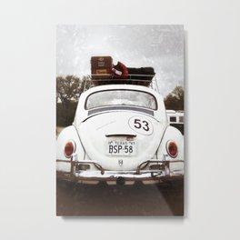 Bug Luggage Metal Print