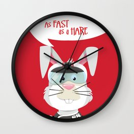 As Fast as a Hare (Race Car Driver) Wall Clock