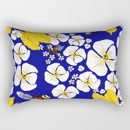Bumbly Bees with Backbacks Rectangular Pillow