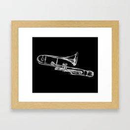 Piston Valve Trombone Framed Art Print