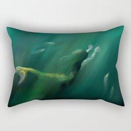 Verdant Deeps Rectangular Pillow