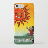 maori iPhone & iPod Cases featuring Maori & Sun by Noah's ART