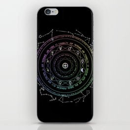 Astrological Magic Circle iPhone Skin