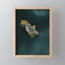 Boat Island Framed Mini Art Print