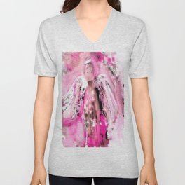 Breast Cancer Angel #2 Unisex V-Neck
