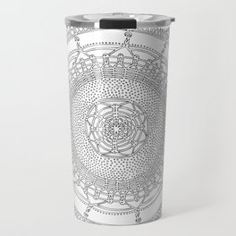 Opening on White Background Travel Mug
