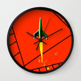 Red Planet Landing Wall Clock